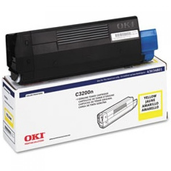 OKI Toner 43034805 Yellow Original -  (OKI). Αυθεντικό Toner Yellow για τα OKI C3200, C3200N grammashop.gr